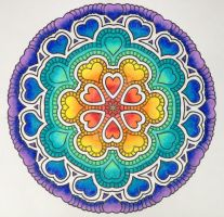 I Heart Rainbows collaboration with E1Duchess by Mandala-Jim