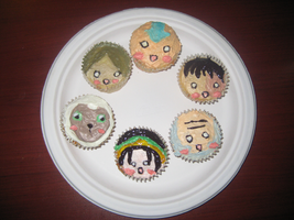 Avatar Cupcakes by DaydreamingCow