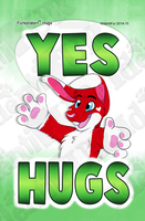 Yes Hugs Badge by mikeray87