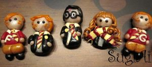 The Golden Trio and Twins by SugiAi