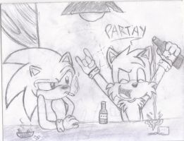 Sonic at the bar (again) by Soniario12