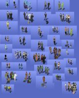 all my sims 2 familys by I-and-Me