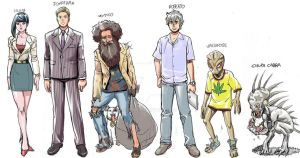Soltice Ville characters by P-H