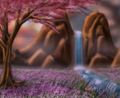 Purple Spring by valkardy