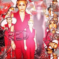 Red-Miley  Cyrus  Blend by JoDirectioner