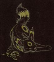 Pkmn: Umbreon by Paperiapina