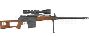 DC81A1 .50 Cal. Sniper Rifle by dragonkiller38
