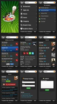 Burrp Nokia App Interface by nishith