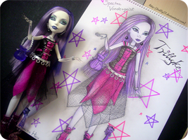 Drawing of my Spectra Vondergeist Doll II. by Trilly21