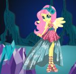 Legend of Everfree Crystal Gala Fluttershy by kimpossiblelove