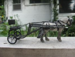 Stablemate Scale Pony Harness and Cart by SpaceyChihuahua
