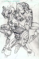 Avengers Trio Pencils by CliffEngland