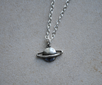 Planet Saturn Necklace by ClayRunway