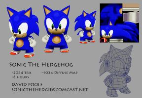 Sonic the Hedgehog Munny Model by Espiownage
