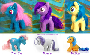 Jellybean prize ponies  - all 3 by Voodoo-Tiki