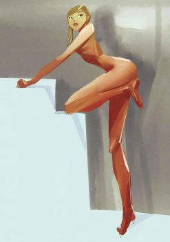 nude girl with one arm by celor