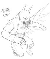 Lazymills1986's Batman by silentsketcher