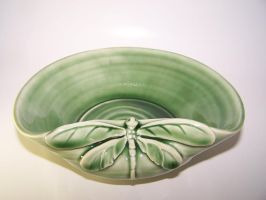 Celadon Dragonfly Bowl by RenaissanceMan1