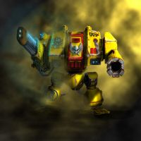 Imperial Fists Dreadnought by Terradok