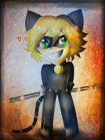 -Chat Noir -Chibi- by OniGamerXD