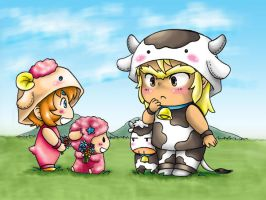 An Ox Meets A Lamb by MZ15