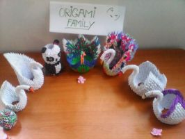 Origami Family by XxAl3xandra09