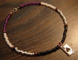 Asexual Pride anklet -aromantic- by Gryphon-HB