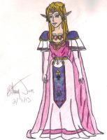 OoT Zelda's Alternate Dress by BadassSheik92
