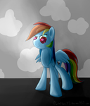Rainbow Dash Epic Pose DAY41 by DarkFlame75
