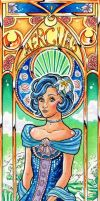 Sailor Mercury Mucha style by Carcondis