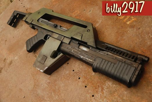 aliens pulse rifle 3d printed by billy2917
