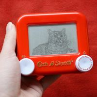 Cat Etch A Sketch by pikajane