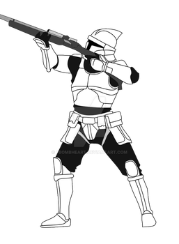 Clone Trooper in Concept Armor by FBOMBheart