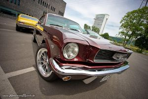 dark red mustang by AmericanMuscle