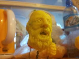 modelling clay old man's head by Vimes81