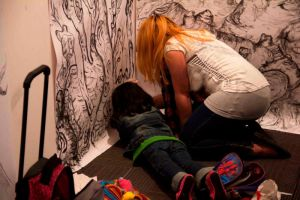 My Daughter and I Drawing... by drkgrphks10