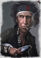 keith richards by saadirfan
