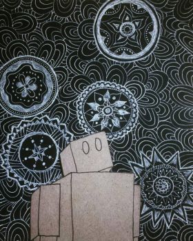 Cardboard Robot and the Infinite Sky by Llyzabeth