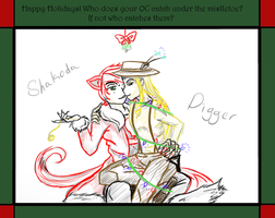 Christmas meme- Shakoda and Digger by Zhdara