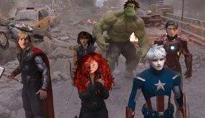 The Avengers in the City by JOSGUI