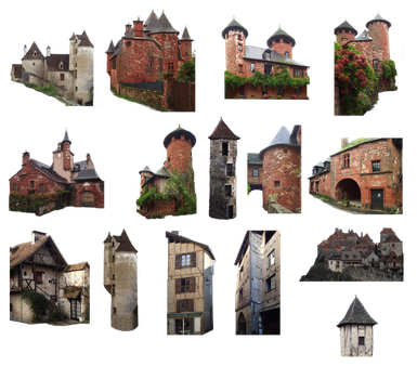 PNG medieval house - 038 by HermitCrabStock