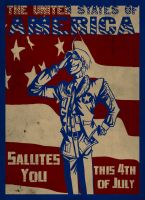 America Salutes You by ScarecrowArtist