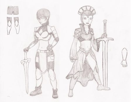 Armor sketches by Agferoth