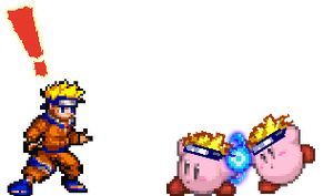 Naruto Kirby Sprite by woot2000
