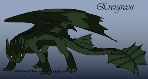 HTTYD Night Fury OC- Evergreen by KuroHetalia