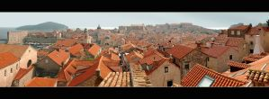 Roofs Of Dubrovnik - Panorama by skarzynscy