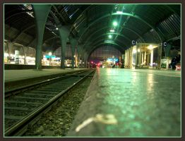 Karlsruhe, Main train station by kine80