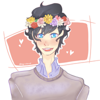 Flower crown Matthew by AyaMichelle