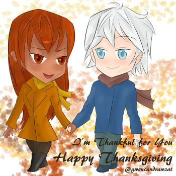 Chibi Love Thanksgiving by GwenCanDrawZat
