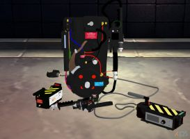 Ghostbusters XNALara Equipment by OutaDimes